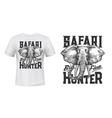 elephant t-shirt print mockup safari hunting vector image vector image
