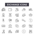 exchange line icons for web and mobile design vector image vector image