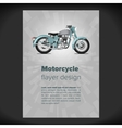 Flayer or placard with motorcycle vector image vector image