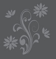 floral curve decorative ornaments in gray colors vector image
