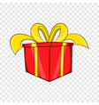 gift in a box icon cartoon style vector image