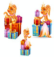 gold fish gifts vector image