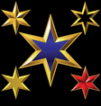 gold six-pointed stars vector image