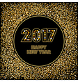 Golden New Year background vector image vector image