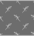 grey salamander seamless pattern vector image vector image