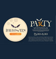 halloween party design template with moon light vector image vector image