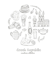 Hand drawn doodle Czech Republic travel set vector image vector image