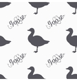 Hand drawn farm bird hipster silhouettes seamless vector image vector image
