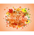 Happy Thanksgiving Day watercolor logotype badge
