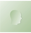 Head silhouette vector image