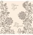 henna mehndi floral pattern vector image vector image