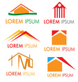 house icon set isolated on white background vector image vector image