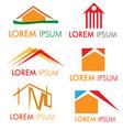 house icon set isolated on white background vector image