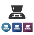 kitchen scales icon in different variants with vector image vector image