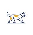line art dog logo design vector image vector image
