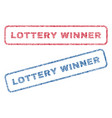 lottery winner textile stamps vector image