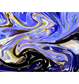 luxury blue dark marble background with swirls vector image