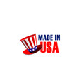 made in usa sign vector image vector image