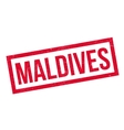 Maldives rubber stamp vector image vector image
