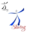 Male dancer skating abstract symbol vector image