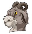 mascot head an goat vector image