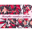 Memphis seamless pattern in the style of 80s vector image vector image