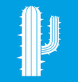 mexican cactus icon white vector image vector image