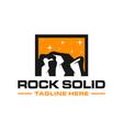 modern rock cliff logo vector image vector image