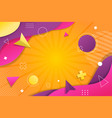 neo memphis colorful background in style a vector image
