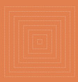 orange background square dotted line pattern vector image