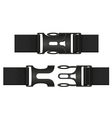 plastic buckle clasp 03 vector image vector image