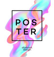 poster design with colored fluid vector image