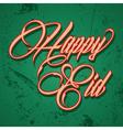 Retro calligraphy of text happy eid - il vector image