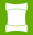 scroll icon green vector image vector image