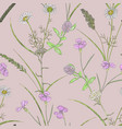 Seamless pastel pattern with greenery