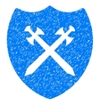 Security Shield Grainy Texture Icon vector image vector image