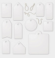 set blank white label cardboards vector image
