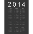 Simple black calendar 2014 vector | Price: 1 Credit (USD $1)