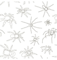 Spiders set pattern vector image vector image