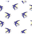 swallow bird pattern vector image vector image