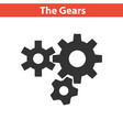 three gear sign simple icon on white background vector image vector image