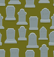 Tombstone seamless pattern Old gravestone ornament vector image vector image