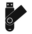 usb device icon simple style vector image