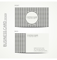 Vintage creative simple monochrome business card vector image vector image