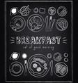 vintage poster breakfast menu sketches vector image vector image
