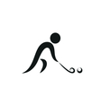Winter sport Hockey icon monochrome vector image vector image