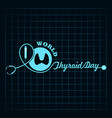 world thyroid day poster - medical concept vector image vector image