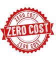 zero cost sign or stamp vector image vector image