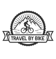 Traveling by bicycle Badge emblem vector image