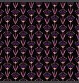 violet oriental flwoers vector image